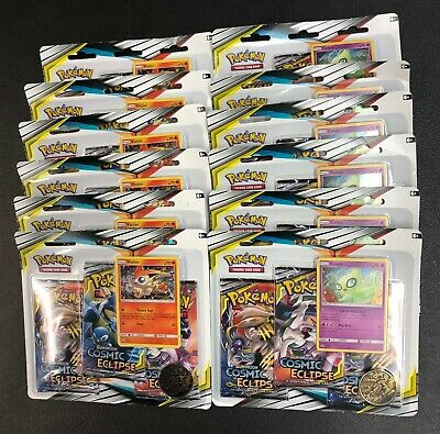 Pokemon Cosmic Eclipse Booster Box 36 Sealed Packs Victini Celebi Blisters