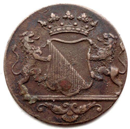 NETHERLANDS EAST INDIES, VOC UTRECHT 1 DUIT 1790 KM#111.2 Child Mint Mark SS2.3