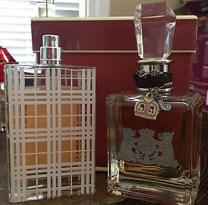 Juicy Couture EDP and Burberry Brit EDT perfumes 100ml