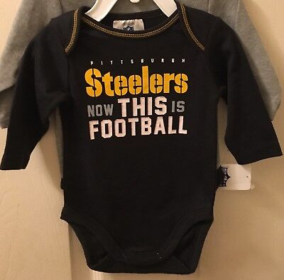 (PITTSBURGH STEELERS 2 PIECE CREEPER SET SIZE 0 3 MONTH NEW 1 ONE PIECE FAST SHIP)