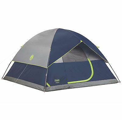 Coleman Sundome 6 Person Outdoor Hiking 10' x 10' Camping Tent w/ Rainfly Awning