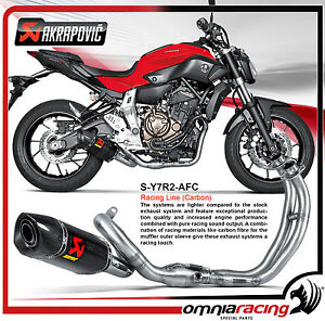 akrapovic s y7r2 afc yamaha fz 07 mt 07 14 full exhaust. Black Bedroom Furniture Sets. Home Design Ideas