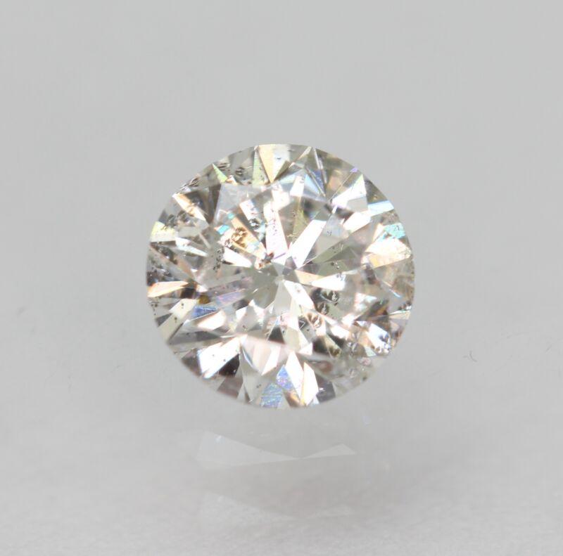 Certified 0.40 Carat F SI1 Round Brilliant Enhanced Natural Diamond 4.71m EX CUT