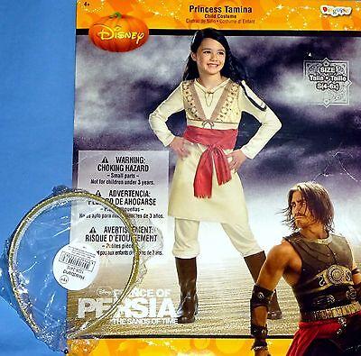 Disney Princes Costume (Disney Princess Tamina costume;girls 4-6X;Prince of Persia;gold glitter)
