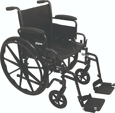Compass Probasic 20 Inch K2 Wide X-Large Wheelchair with/Swingaway Footrests