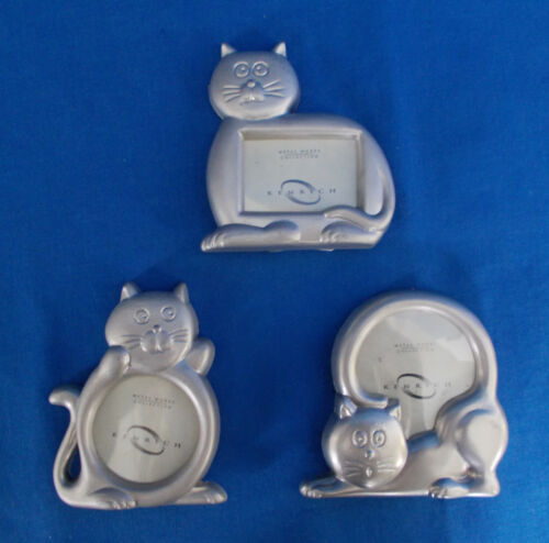 3 Mini Metal *Cat* Kitten Picture Frames for your Sweeties