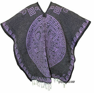 Heavy Blanket Mexican Poncho - Tribal 22 - One Size Fits ...