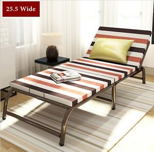 Portable Folding Bed With Frame Guest Bed Mattress Bedding Cot Day Night Bed