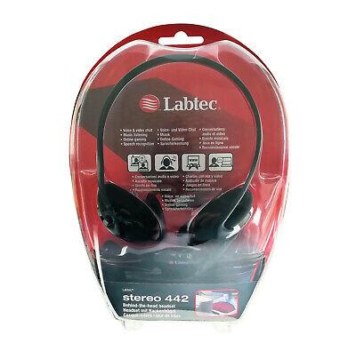Labtec Stereo 442 Nackenbügel Stereo Headset 2 x Klinke Kopfhörer Mikro Schwarz