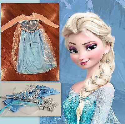 Frozen INSPIRED QUEEN ELSA DRESS HALLOWEEN Costume Cosplay Princess US SELLER