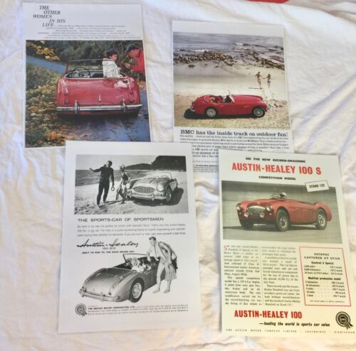 Austin Healey  Vintage Posters set of 4 Laminated  12x17     RD0497-2