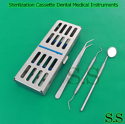 Dental Sterilization Cassette Rack Box Tray For 5 Instruments