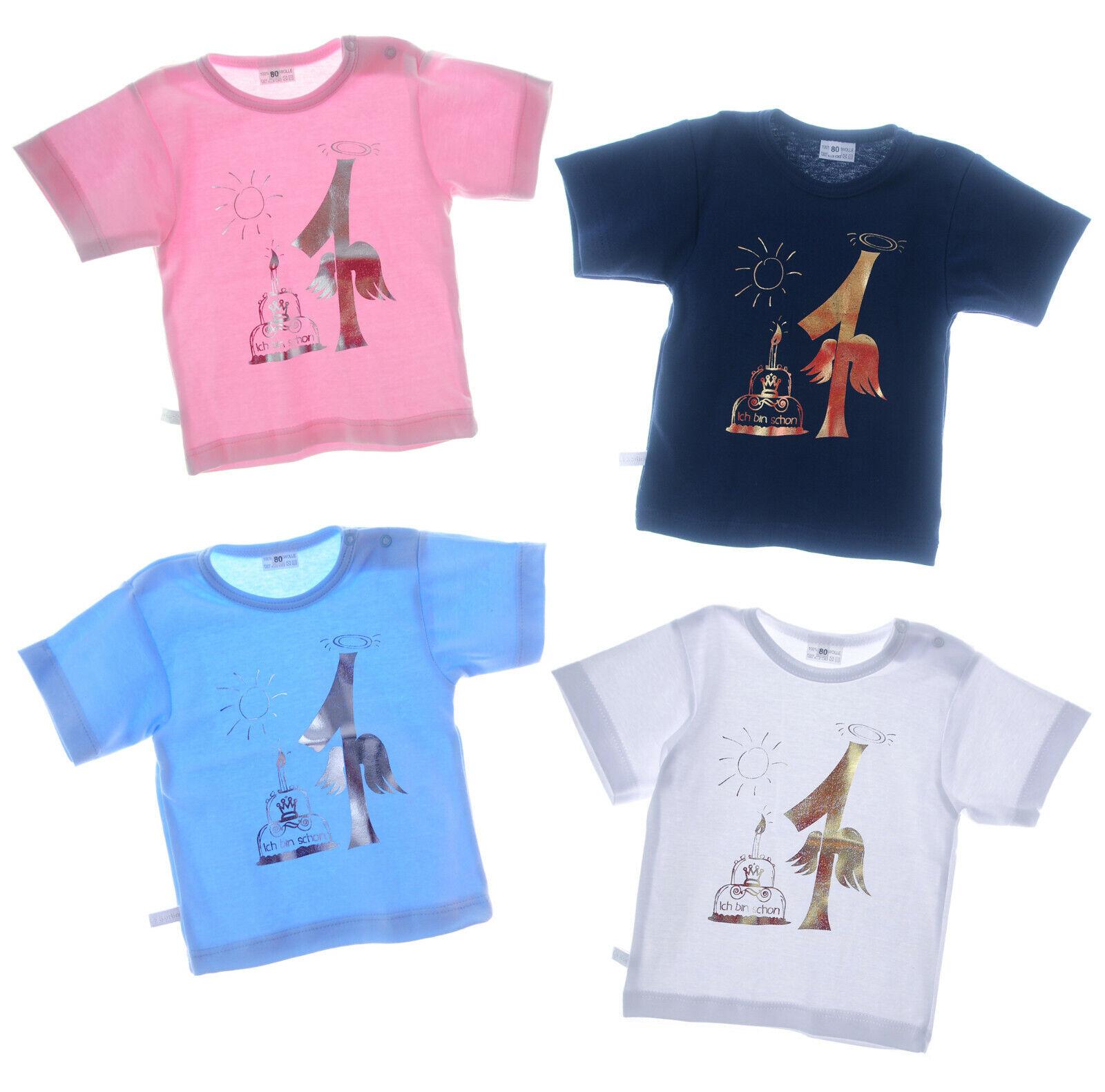 T-Shirt 1 Jahr Geburtstag Kurzarmshirt Party Geschenk Shirt Happy Birthday NEU