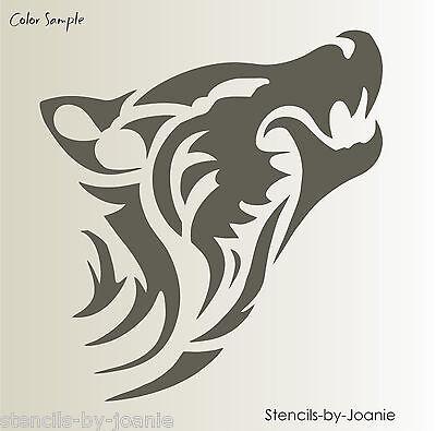 Stencil Zuni Tribal Wolf Coyote Head Shape Tattoo Southwestern Art Lodge Signs