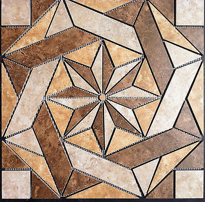 "22 1/4"" Tile Medallion - Daltile's Heathland series, floor or wall."