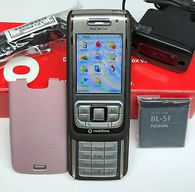 NOKIA E65 SLIDER-HANDY SMARTPHONE UNLOCKED BLUETOOTH KAMERA MP3 WLAN WIE NEU BOX - 3 Slider-handy