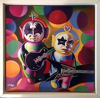 Ron English - Kiss Teletubbies - Edition 50 - 2017 - handsigniert