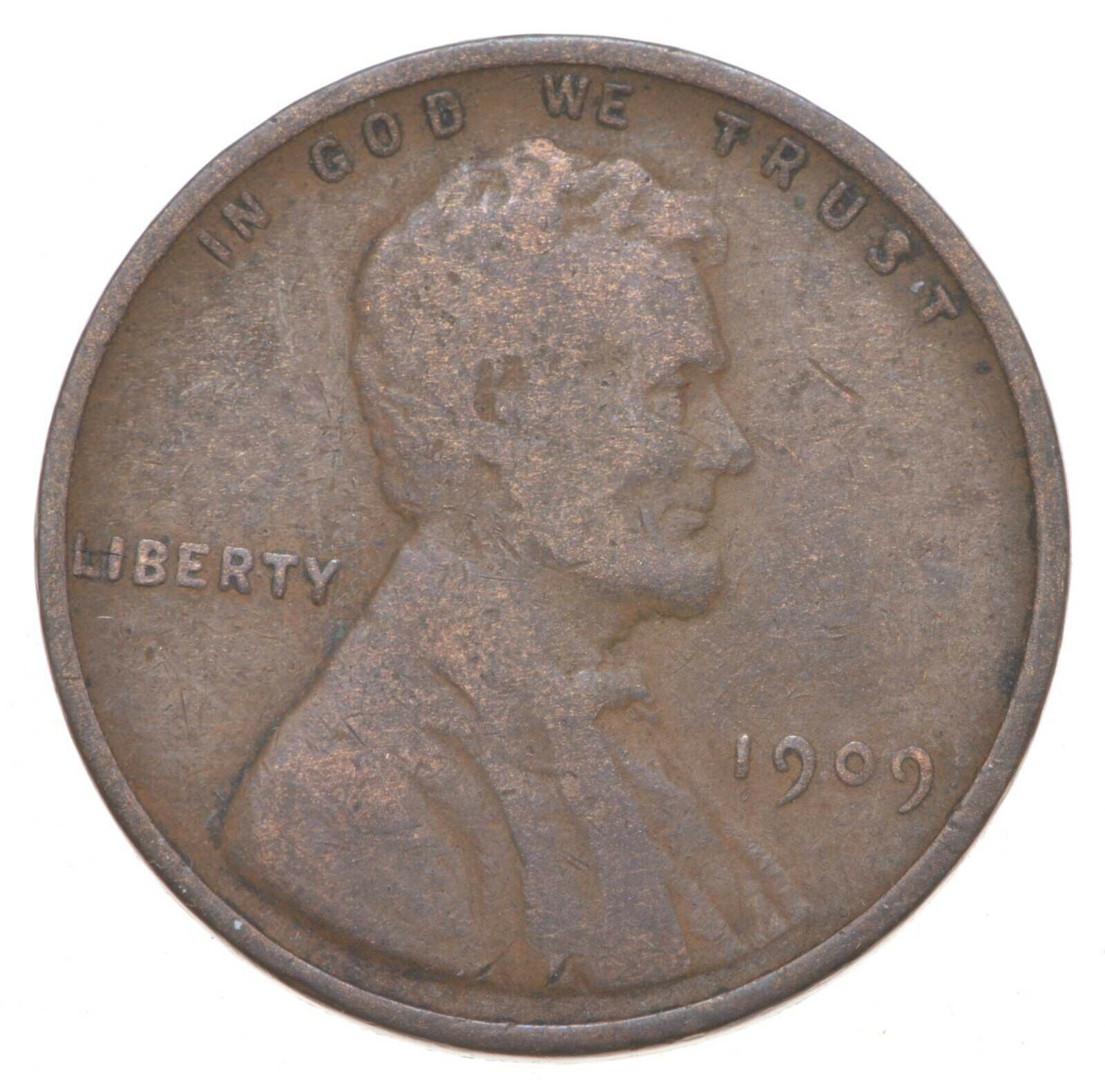 1909 Lincoln Wheat Cent - Walker Coin Collection 906 - $2.25