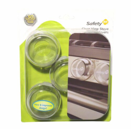 Safety 1st Clear View Stove Know Covers - 5 Pack - Tool Free Installation First