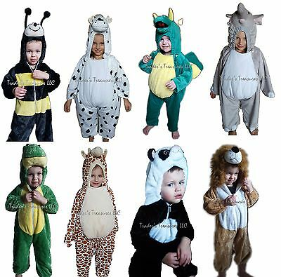 nimal Halloween Costumes Choose Your Size Cute Fuzzy NEW (Cute Baby Animal Costumes)
