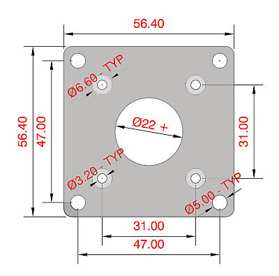 V00 Cnc Nema 17 T0 A Nema 23 Housing Adapter Plate Engraver Mill 3d Printer