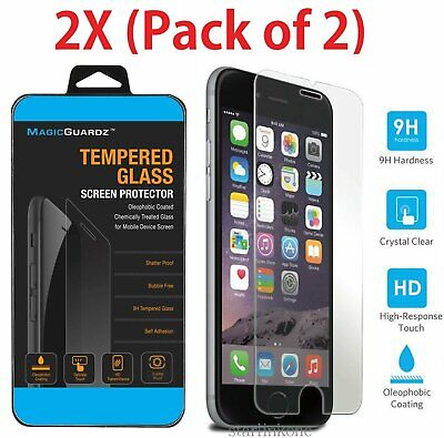 2X New Premium Tempered Glass Film Screen Protector for Apple iPhone 7 Cell Phone Accessories
