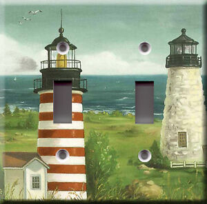 Light switch plate cover boats and lighthouse view for Lighthouse switch plates
