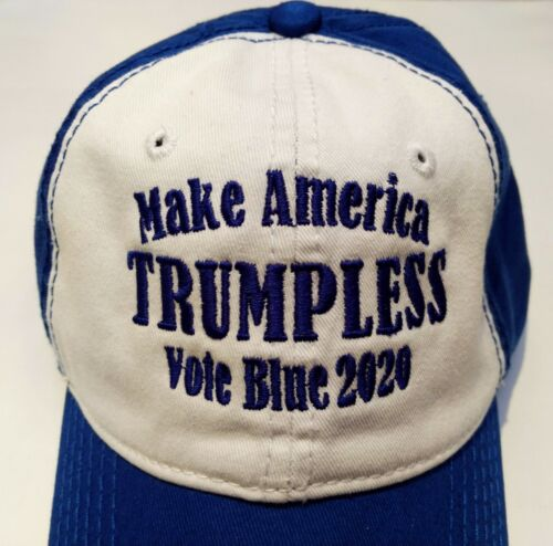 Make America TRUMPLESS Hat Embroidered Cotton Blue Cap anti Trump Adjustable