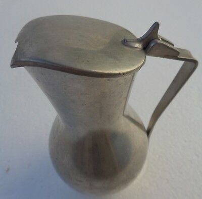 Creamer Lidded Pitcher Pewter B M Norway