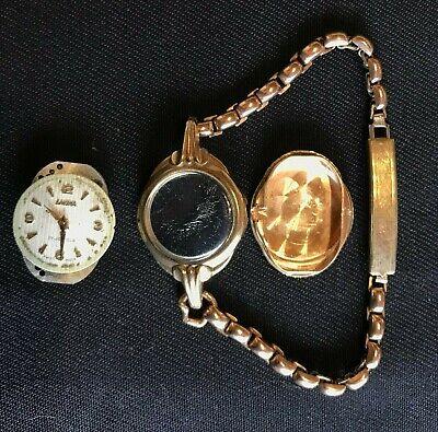 Vintage 9ct solid gold Lavina watch (Scrap?) - Lot 1