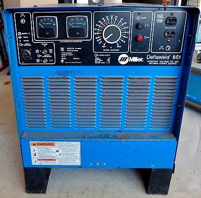 Miller Deltaweld 651 Welding Power Source Mig Welder 650amp 903022 3 Phase