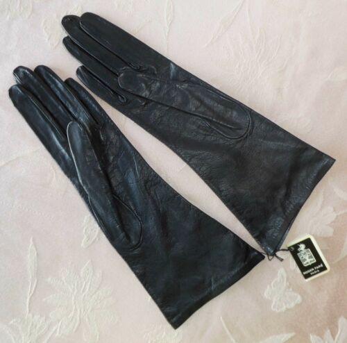 Roger Fare Paris Saks Fifth Ave Ladies Vintage Gloves Black Kidskin Sz 6.5 NWT