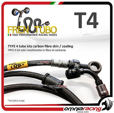Kit radiator hoses 4 Frentubo TRIUMPH BONNEVILLE TUBI RACCORDI ACCIAIO