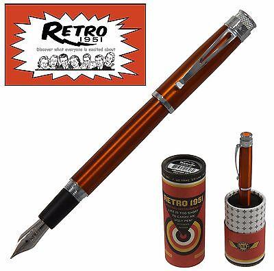 Retro 51  Orange Tornado Fountain Pen #VRF-1302-F / Fine Point NIB