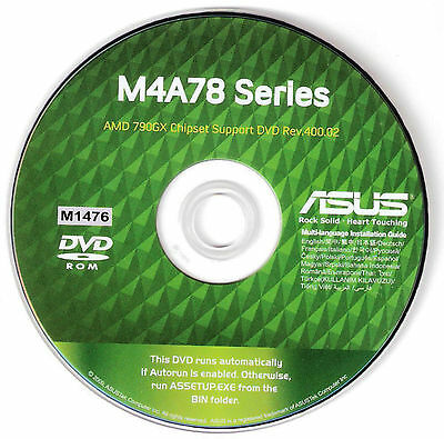 ASUS M4A78T-E Motherboard Drivers Installation Disk M1476