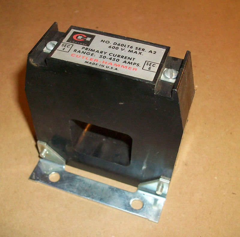 Cutler Hammer Current Transformer D60LT6    50-450amps