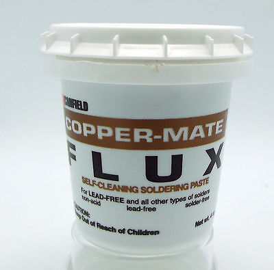 4 oz  COPPER-MATE PASTE FLUX Canfield Stained Glass  Soldered Art Pendant Craft  Copper Stained Glass Chandelier
