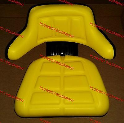 Universal Tractor Yellow Vinyl Seat For John Deere 1020 2755 2940 2955 300 Lb