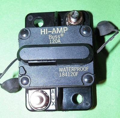 *NEW Bussmann DC Circuit Breaker 120Amp Surface 184120F HI-AMP RV  WATERPROOF