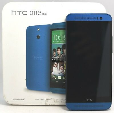 OPEN BOX- HTC ONE E8 Blue (FACTORY UNLOCKED) 5' Full HD , Quad-Core CPU , 16GB