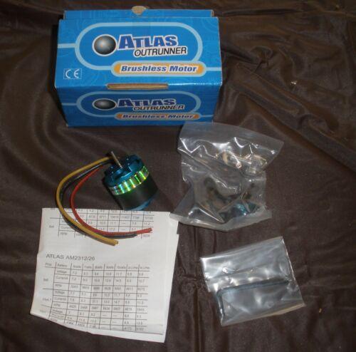 Atlas out runner Brushless Motor AM2317/16 NOS