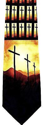 NEW! 3 Three Crosses, EASTER, Religious, Christian Novelty Necktie #1659-K - Easter Christian