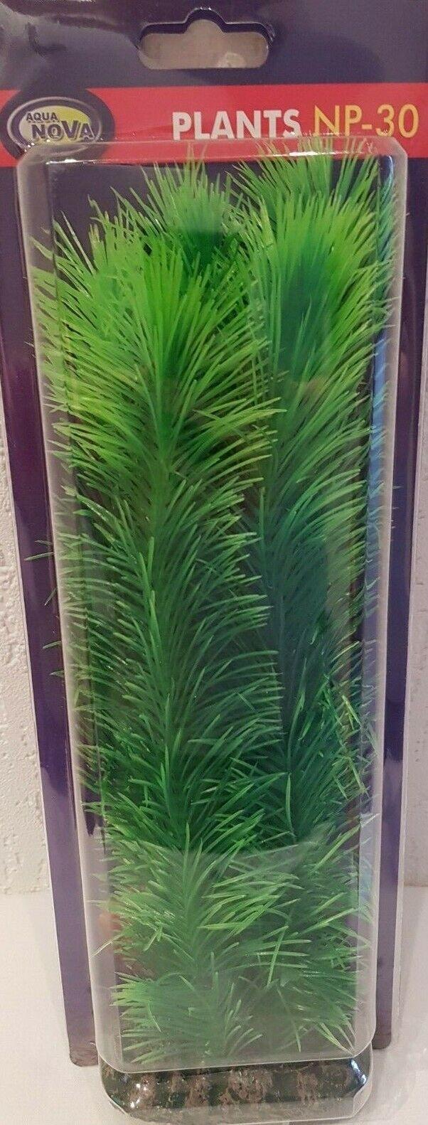 künstliche Aquarium Pflanze fein grün 30cm Deko Pflanzen Wasserpflanzen Plastik