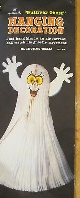 "VINTAGE 1986 HALLMARK HONEYCOMB ""GULLIVER GHOST"" HALLOWEEN DECORATION 21"""