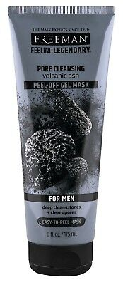 FREEMAN MENS PORE CLEANSING GEL MASK PEEL OFF 6 Ounce