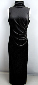 6dd827d09c71c2 Lauren Ralph Lauren Turtleneck Sleeveless Velvet Dress Size 10   3B 146 NEW