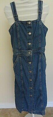 Levis Cherie Denim Dress Womens Size S Blue Denim Jumper Overall Dress ()