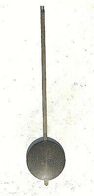VTG/Antique Brass Pendulum w/ Brass Rod Wall mantle ClockLate1800~ early1900?
