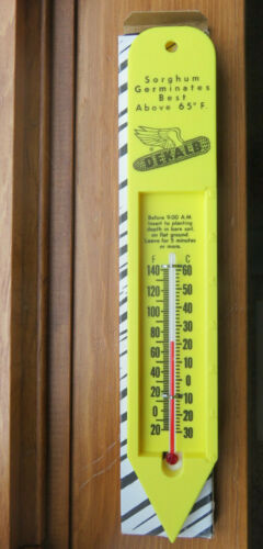 Vintage Dekalb Seed Thermometer Sign NOS w/ box