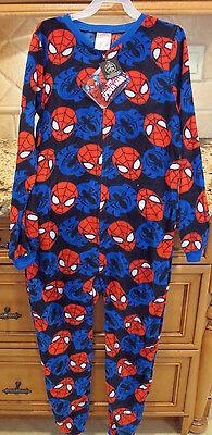 Spiderman Onesie (Marvel Spiderman Child's Zip Up Fleece Onesie- Size M (10-12)- New with)